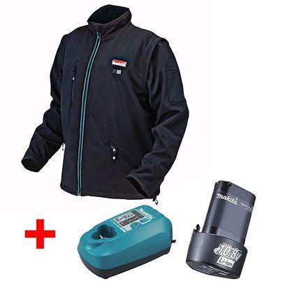 Obrázok pre výrobcu Makita CJ100DZ aku. vyhrievaná bunda + ZADARMO akumulátor 10,8 V/1,3 Ah + nabíjačka