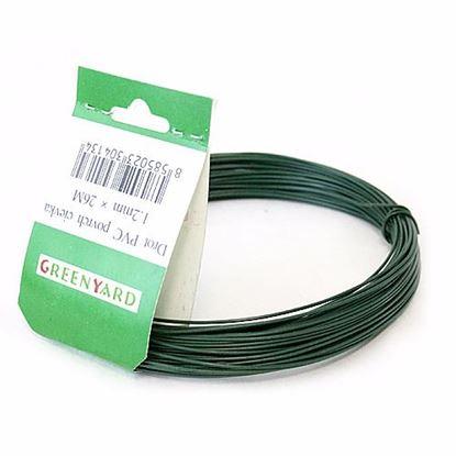 Obrázok pre výrobcu Drôt poplastovaný zelený 2 mm x 25 m 431137