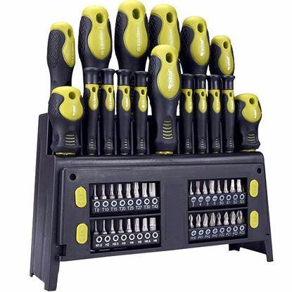 Obrázok pre výrobcu Extol 53146 sada skrutkovačov 49-dielna + stojan