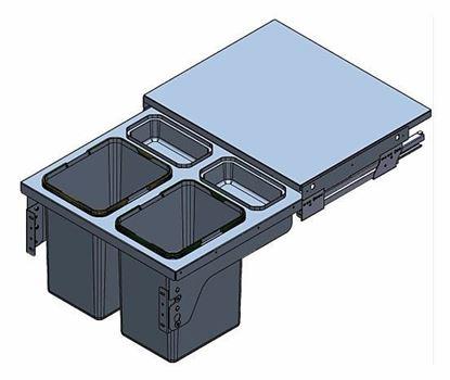 Obrázok pre výrobcu Starax S2385 Odpadkový kôš 600 mm
