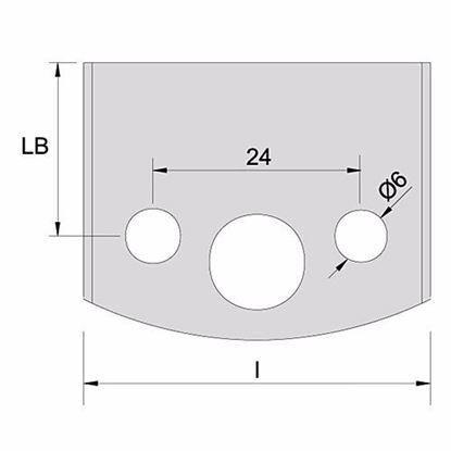 Obrázok pre výrobcu Profilový nôž 40 mm 193 /polotovar na brúsenie/ F026-193