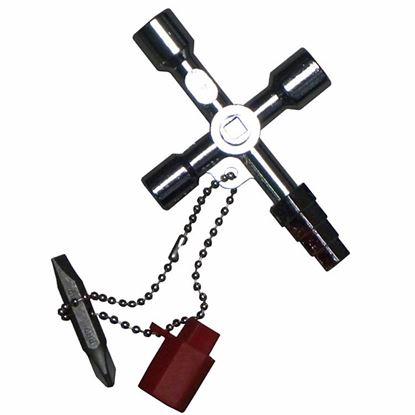 Obrázok pre výrobcu GEKO 10049 univerzálny kľúč na rozvodné skrine, rozvádzače