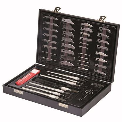 Obrázok pre výrobcu Silverline 251239 sada nôžov skalpelov 51-dielna