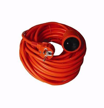 Obrázok pre výrobcu Solight PS18 predlžovací kábel - spojka, 1 zásuvka, oranžová, 30 m