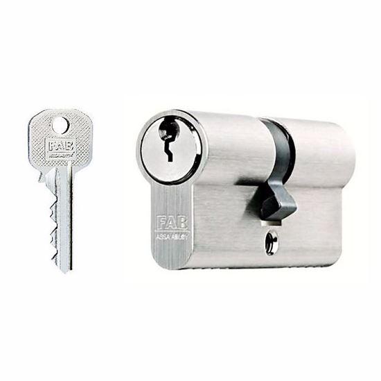 Obrázok Vložka FAB 50ED/30 + 35, 3 kľúče nikel /5002/