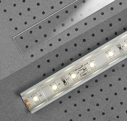 Obrázok pre výrobcu LED plastová krycia lišta 2m transparent H 23080016