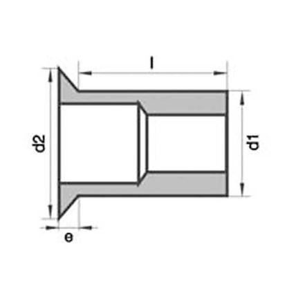 Obrázok pre výrobcu Maticové nity oceľové zapustené