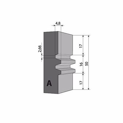 Obrázok pre výrobcu Profilový nôž pre F620 - 50 x 24 x 2 mm F620-091850