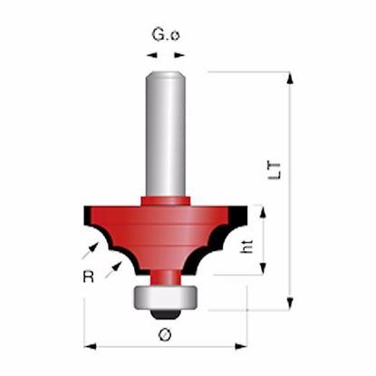 Obrázok pre výrobcu Gamma Zinken 1902 Profilová frézka s ložiskom D33x14 R5 S8 mm