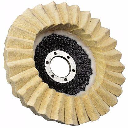 Obrázok pre výrobcu GEKO Leštiaci kotúč lamelový filcový 125 x 22 mm, hrúbka filcu 4 mm G00387