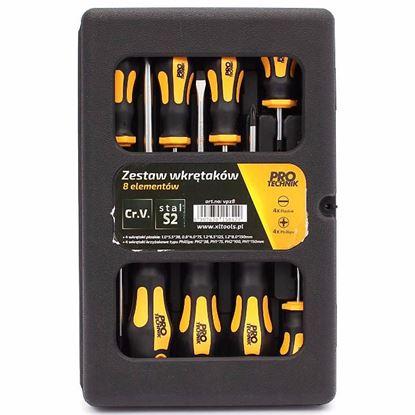 Obrázok pre výrobcu Sada skrutkovačov 8-dielna, 4 x PH, 4 x PL, PRO-TECHNIK 2.VPZ8
