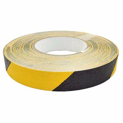 Obrázok pre výrobcu Protišmyková samolepiaca páska 25mm x 18,3 - žlto-čierna 110066