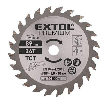 Obrázok pre výrobcu Extol 8893022D kotúč pílový na drevo, 89 mm, 24 Z,