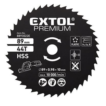 Obrázok pre výrobcu Extol 8893022E kotúč pílový na kov priemer 89 mm, 44 Z