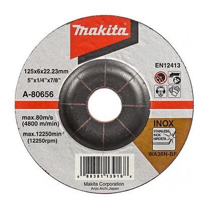 Obrázok pre výrobcu Makita A-80656 Brúsny kotúč na oceľ (kov) 125 x 6 x 22 mm