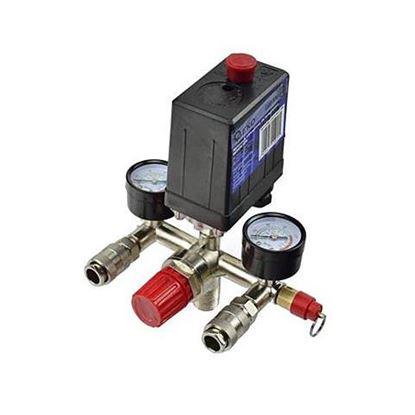 """Obrázok pre výrobcu GEKO G80306 tlak. spínač na kompresor 1/4"""" s nanometrom"""
