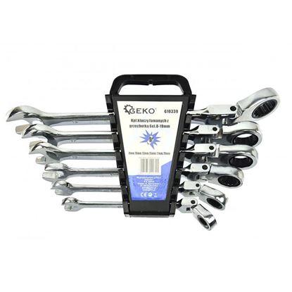 Obrázok pre výrobcu GEKO G10339 Sada račňových kľúčov s kĺbom 6-dielna