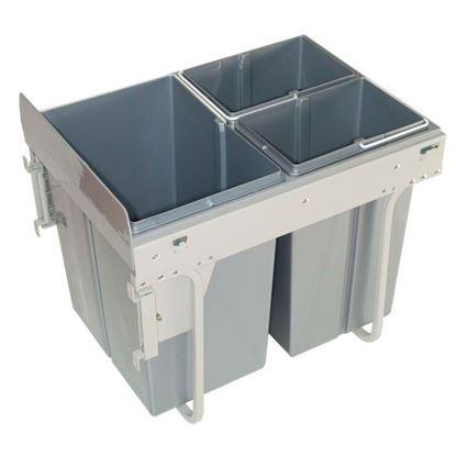 Obrázok pre výrobcu GTV 400 2x 10 L + 20 L odpadkový kôš výsuvný šedý 5557