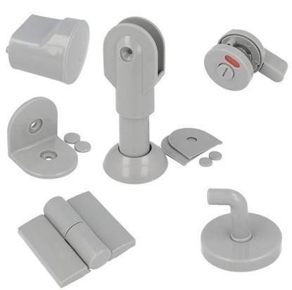 Obrázok pre výrobcu SISO Kovanie na toaletné kabíny šedé