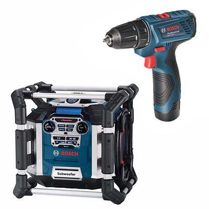 Obrázok pre výrobcu Rádio Bosch GML 50 Professional 0601429600 + Bosch GSR 120-LI Aku. skrutkovač