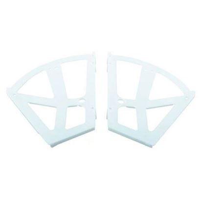 Obrázok pre výrobcu Výklopné botníkové kovanie biele plastové 2 radové