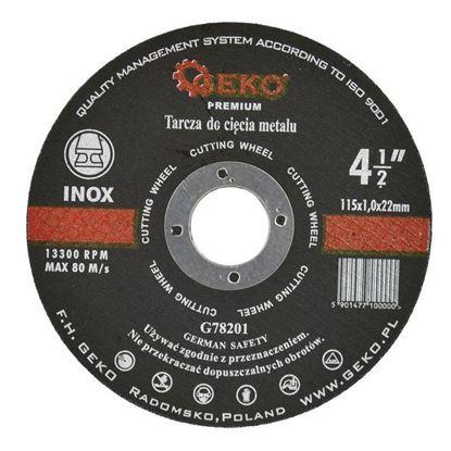 Obrázok pre výrobcu GEKO G78201 Kotúč rezný na kov a nerez 115 x 1 x 22,2 mm