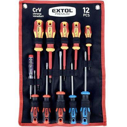 Obrázok pre výrobcu Extol 53088 sada skrutkovačov + skúšačka 11-dielna