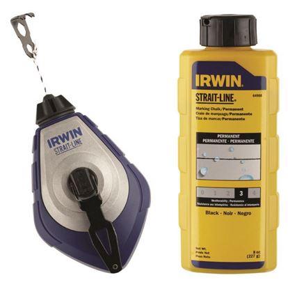 Obrázok pre výrobcu IRWIN SP PRO Značkovacia murárska šnúra 30 m + modrá farba 10507682