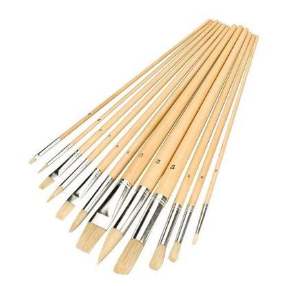 Obrázok pre výrobcu Silverline 125-282606 Sada umeleckých štetcov 12 ks, rozmery 2-12 mm BASIC Line