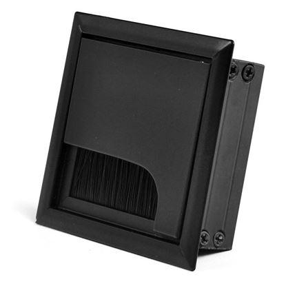 Obrázok pre výrobcu Káblová priechodka 80 x 80 x 28 mm čierna
