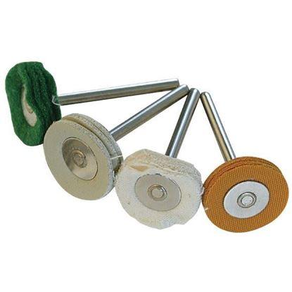 Obrázok pre výrobcu Sada látkových kotúčov na leštenie 4 kusy Silverline, S3,1 mm, 125-196590