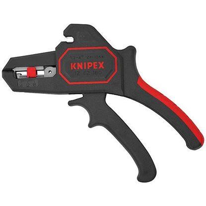 Obrázok pre výrobcu KNIPEX 1262180 Samonastaviteľné odizolovacie kliešte 180 mm