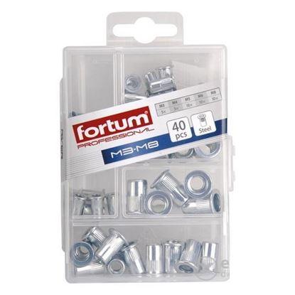 Obrázok pre výrobcu Fortum matice nitovacie, sada 40 ks 4770681