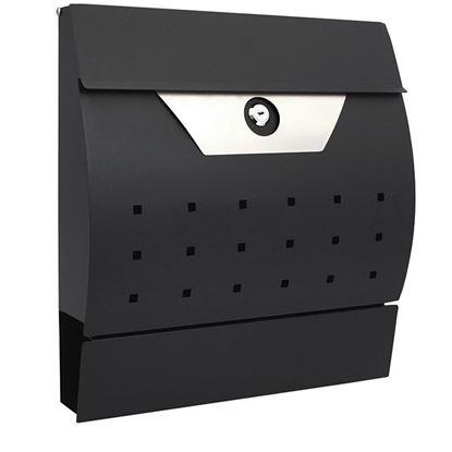 Obrázok pre výrobcu Poštová schránka, 34 x 10 x 37,5 cm, polkruhová čierna nerezová, XL-TOOLS 2.skn8