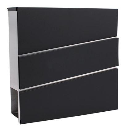 Obrázok pre výrobcu Poštová schránka 37 x 10 x 37 cm, obbdĺžniková čierno-strieborná, XL-TOOLS 2.SKN2