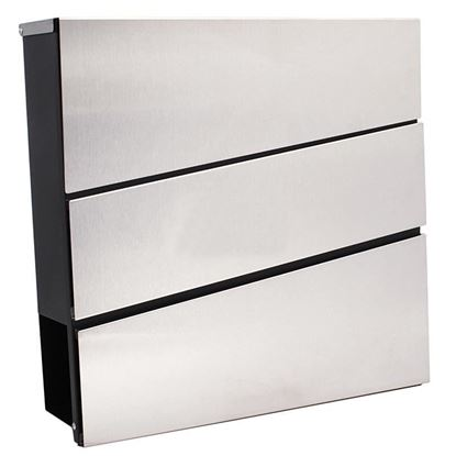 Obrázok pre výrobcu Poštová schránka 37 x 10 x 37 cm, obdĺžniková nerezová, XL-TOOLS2.SKN1