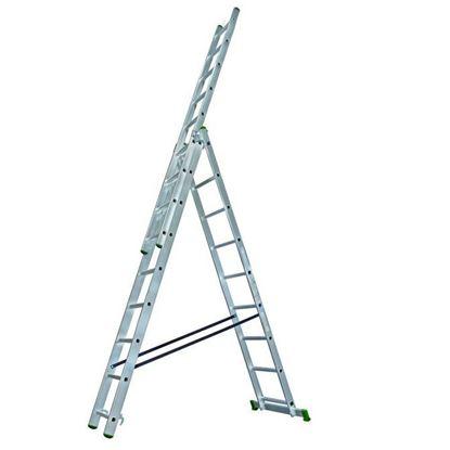 Obrázok pre výrobcu PROTECO rebrík univerzálny 3-dielny 3x9 250/390/530 cm 10.66-3-09-KR