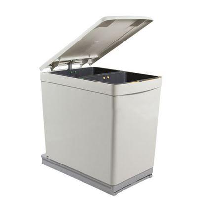 Obrázok pre výrobcu Kôš na odpadky ART 206/283 dvoj-kôš výsuvný 14 l