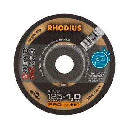 Obrázok pre výrobcu RHODIUS XT38 rezný kotúč na nerez 125 x 1 mm 204621