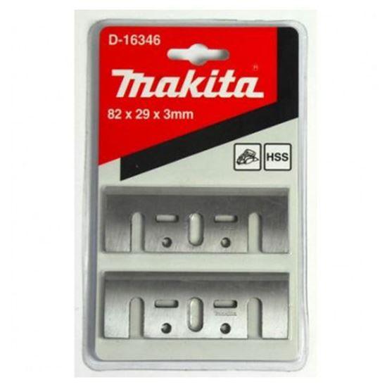 Obrázok Makita D-16346 Hobľovacie nože z rýchloreznej ocele 82 mm HSS