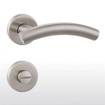 Obrázok pre výrobcu Kľučka + kľučka GreenteQ DG71 delená WC inox