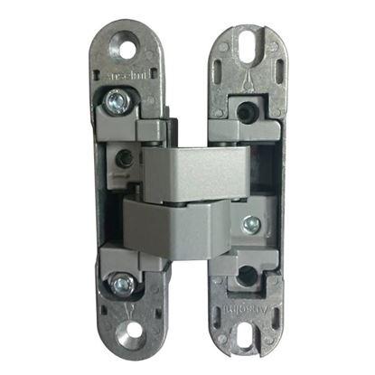 Obrázok pre výrobcu ANSELMI 505.014 neviditeľný záves na bezfalcové dvere, sivý, z časti plastový