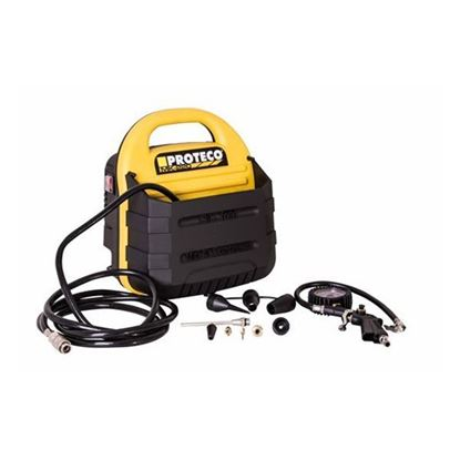 Obrázok pre výrobcu Kompresor PROTECO bezolejový mini 220-240V, 1.1KW, 8BAR + ADAPTÉRY