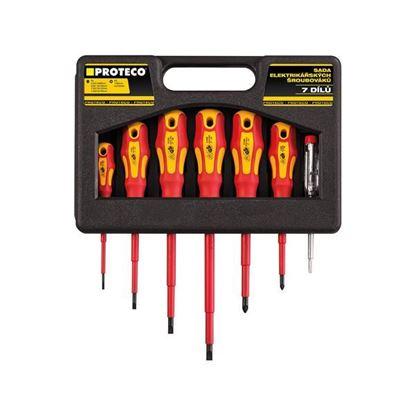 Obrázok pre výrobcu PROTECO sada elektrikárskych skrutkovačov 7 diel. 10.07-990-04