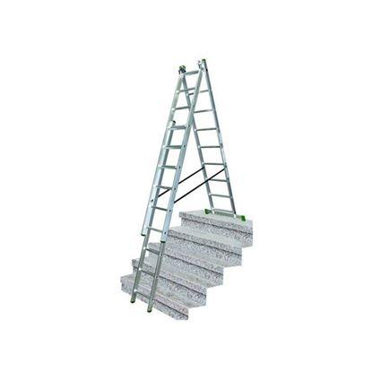 Obrázok pre výrobcu Proteco rebrík 3 dielny 3x10 s úpravou na schody 10.66-S-3-10-KR
