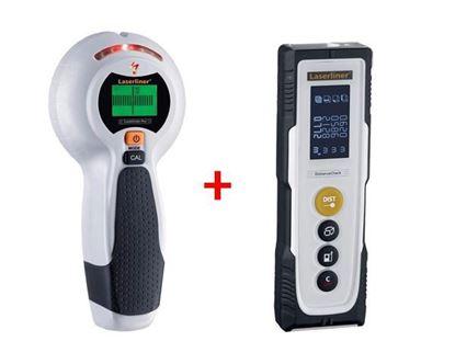 Obrázok pre výrobcu SET Laserliner Combi Finder Plus detektor kovov 080.955A + Las. merač vzdialenosti 080.810A