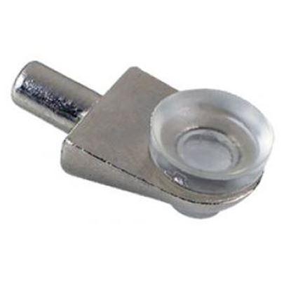 Obrázok pre výrobcu Podperka na sklo, police 5 x 9 mm nikel 3521-6