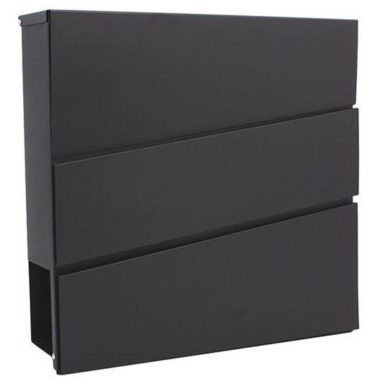 Obrázok XL-TOOLS Poštová schránka 37 x 10 x 37 cm čierna