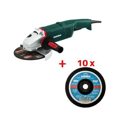 Obrázok pre výrobcu METABO uhl. brúska WX17-180 + 10 ks rezný kotúč RHODIUS 180 x 3 x 22,2 mm