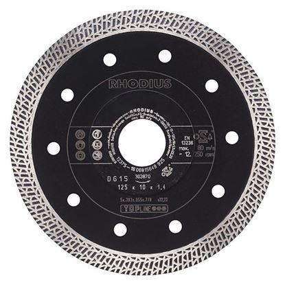 Obrázok pre výrobcu RHODIUS DG15 kotúč diamantový 125 x 10 x1,4 x 22,23 mm 303870